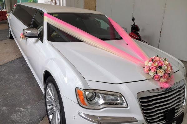 Chrysler limousine wedding car