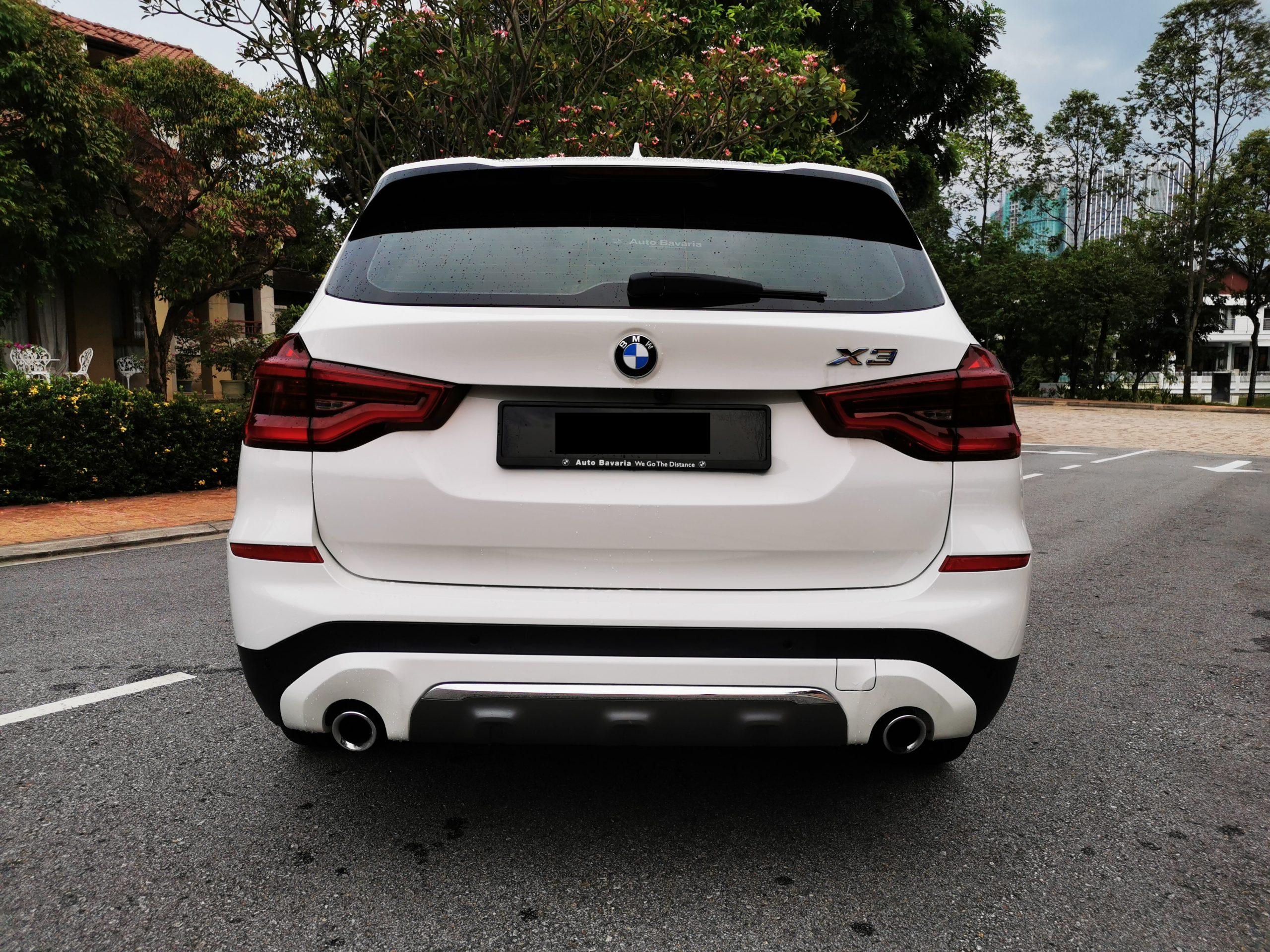BMW X3 Back View