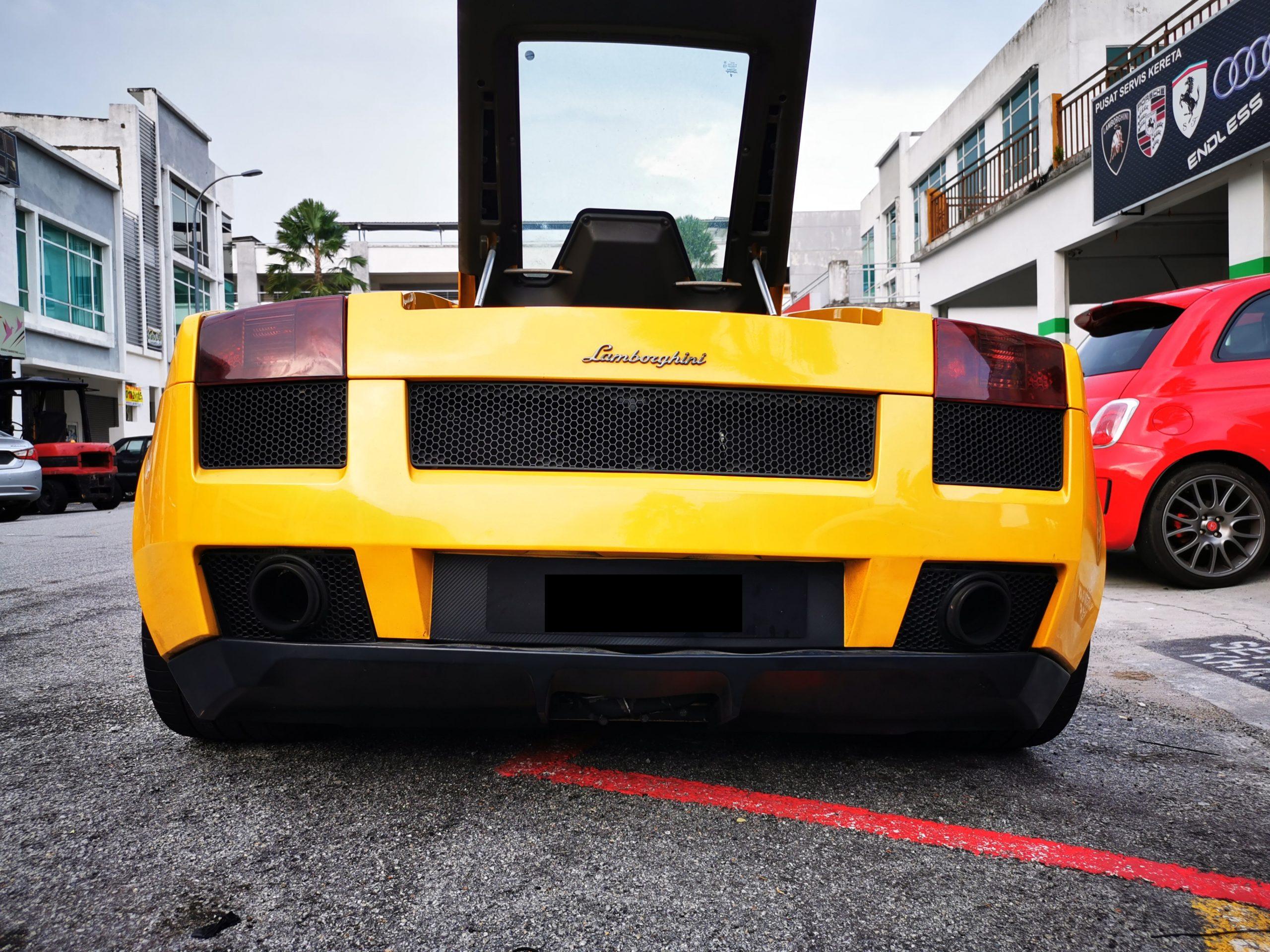 Lamborghini Engine Bay