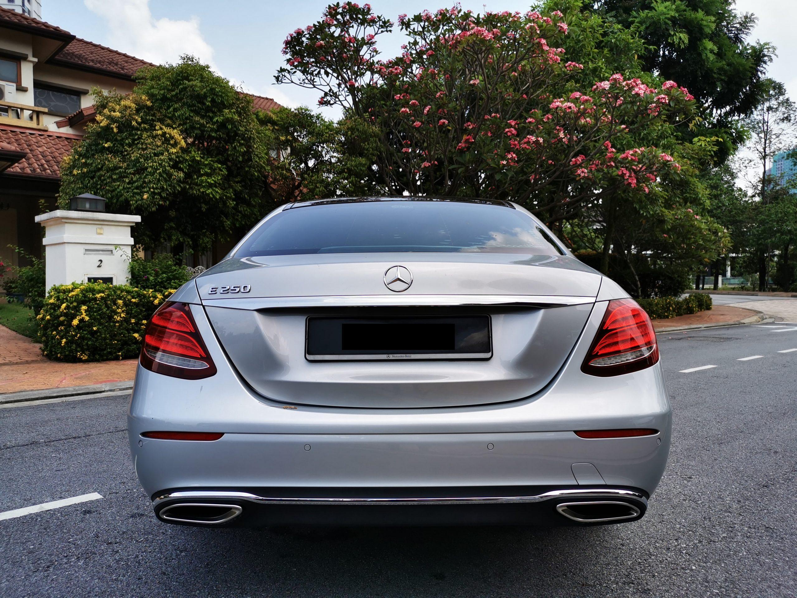 Mercedes E250 rear view