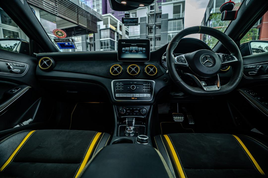 Mercedes GLA45 AMG dashboard view