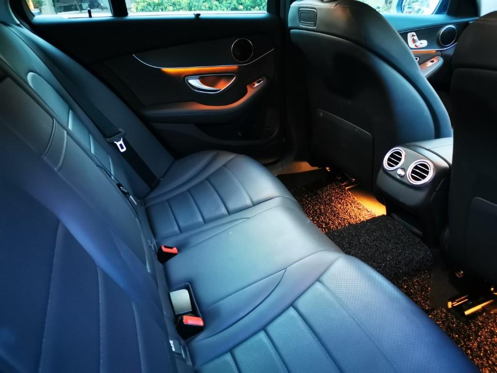 Merc C200 back seat interior