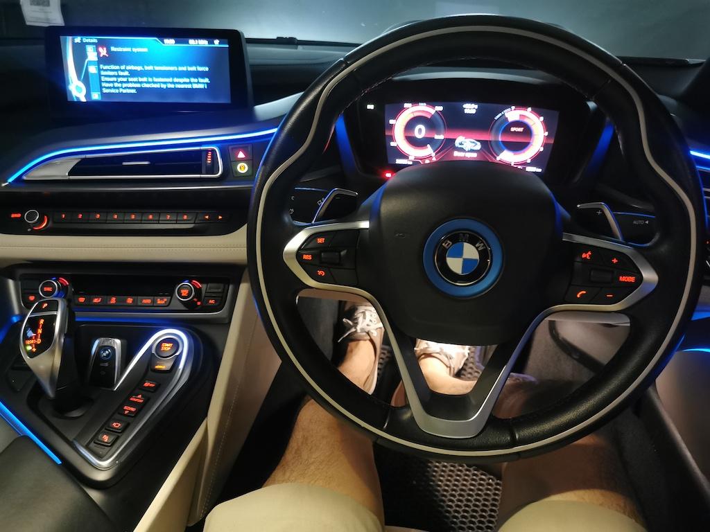 Inside BMW i8 Dashboard