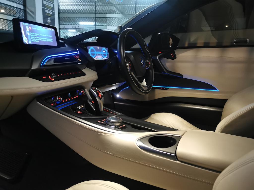 BMW i8 Driver side interior view